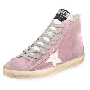 NWOT Golden Goose Pink Suede Francy Sneakers
